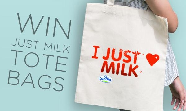 Win JUST MILK Tote Bags