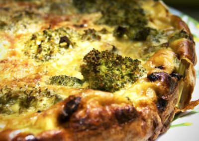 Broccoli and Stilton Quiche