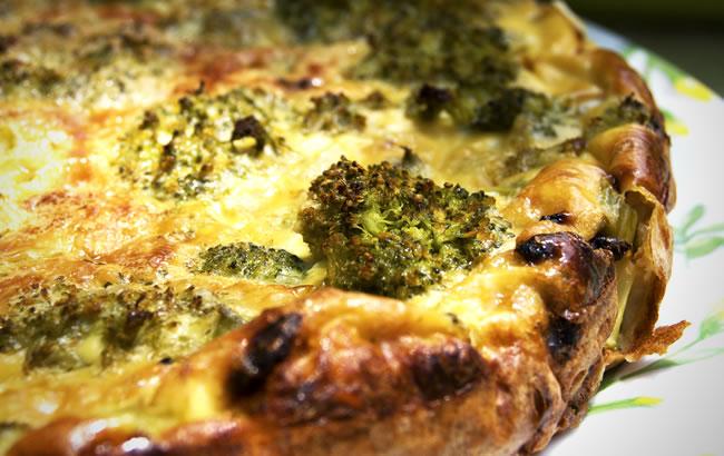 Broccoli and Stilton Quiche
