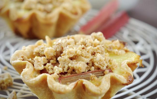 Egg Custard and Rhubarb Tart