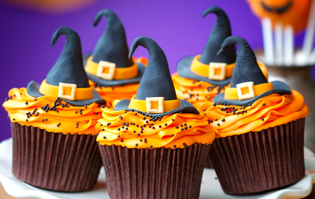 Halloween Sticky Toffee Cupcakes