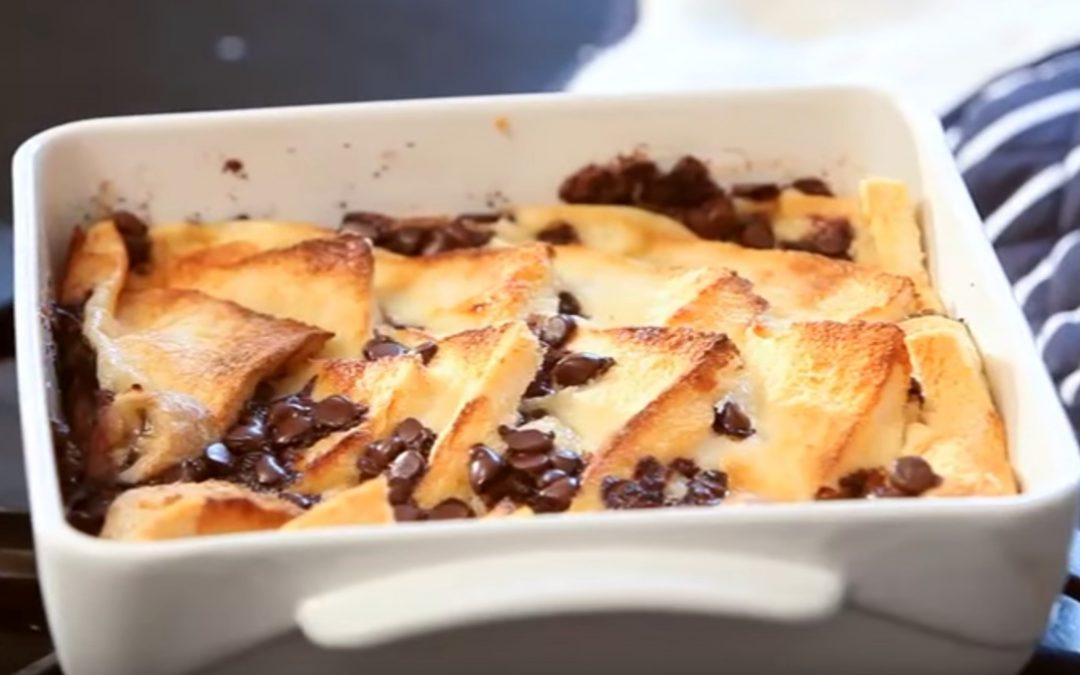 Chocolate and Banana Bread and Butter Pudding