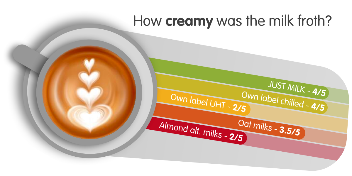 How creamy was the milk froth?