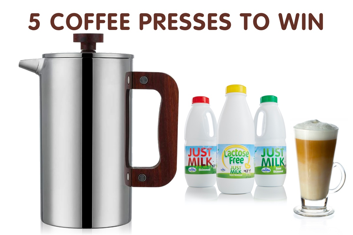 win one of 5 coffee presses