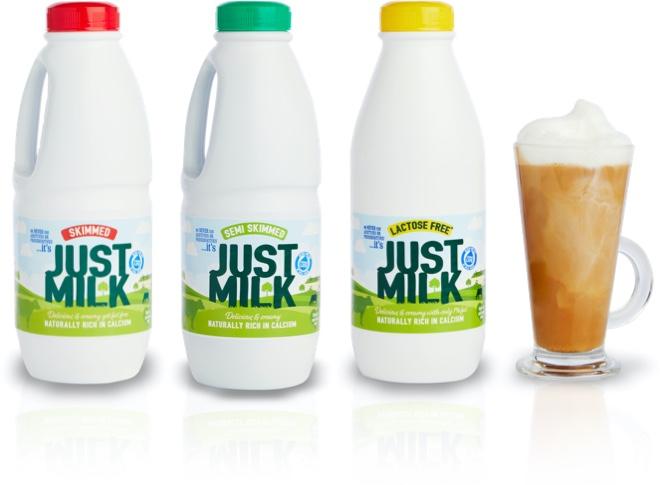JUST MILK long life milk range