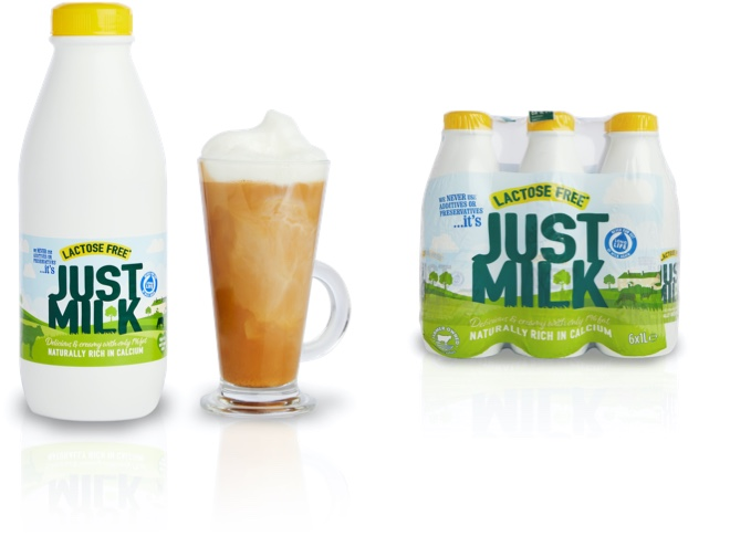 Long life Lactose-Free multi-packs JUST MILK