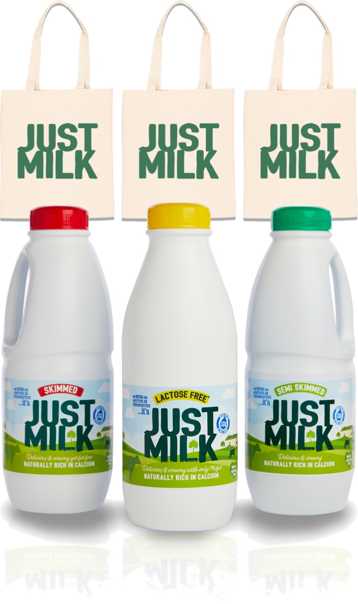 tote bags and just milk giveaway